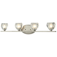 Z-Lite R-3022-4V Hale 4 Light 29 inch Brushed Nickel Vanity Wall Light in G9 3022-4V - Open Box