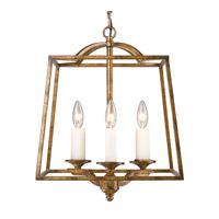 Golden Lighting R-3072-3P-GG Athena 3 Light 15 inch Grecian Gold Pendant Ceiling Light 3072-3P-GG - Open Box
