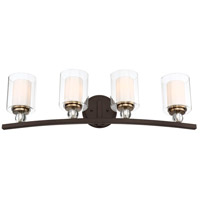 Minka-Lavery R-3080-416 Studio 5 4 Light 33 inch Painted Bronze with Natural Brushed Brass 3080-416 - Open Box