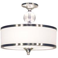 Z-Lite R-308SF-BN Cosmopolitan 3 Light 16 inch Brushed Nickel Semi Flush Mount Ceiling Light 308SF-BN - Open Box