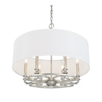 Capital Lighting Corrigan 6 Light 24 inch Antique Silver Pendant Ceiling Light 310961AS-651 - Open Box