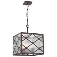 ELK R-32123/3 Radley 3 Light 14 inch Malted Rust Pendant Ceiling Light 32123/3 - Open Box