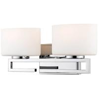 Z-Lite R-335-2V-CH-LED Privet 2 Light 16 inch Chrome Vanity Light Wall Light 335-2V-CH-LED - Open Box