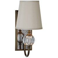 Robert Abbey R-3368 Gossamer 1 Light 4 inch Weathered Brass with Antique Mirror Wall Sconce Wall Light 3368 - Open Box