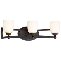 Minka-Lavery Middletown 3 Light 26 inch Downton Bronze/Gold Bath Bar Wall Light 3373-579 - Open Box