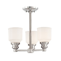 Hudson Valley Windham 3 Light 15 inch Polished Nickel Semi Flush Ceiling Light  3413-PN - Open Box