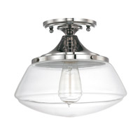 Capital Lighting Signature 1 Light 10 inch Polished Nickel Ceiling Flush Ceiling Light in Clear 3537PN-134 - Open Box