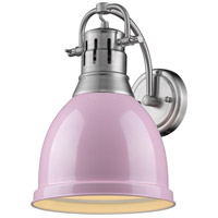 Golden Lighting R-3602-1W-PW-PK Duncan 1 Light 9 inch Pewter Wall Sconce Wall Light in Pink 3602-1W-PW-PK - Open Box