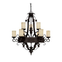 Capital Lighting R-3609RI-125 River Crest 9 Light 39 inch Rustic Iron Chandelier Ceiling Light 3609RI-125 - Open Box