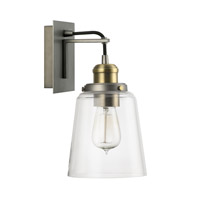 Capital Lighting R-3711GA-135 Signature 1 Light 6 inch Graphite with Aged Brass Sconce Wall Light 3711GA-135 - Open Box