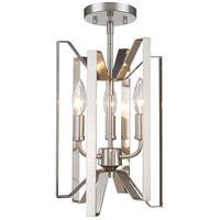 Z-Lite Marsala 3 Light 9 inch Brushed Nickel Semi Flush Mount Ceiling Light 4000SF-BN - Open Box