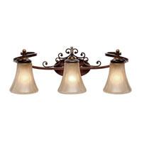 Golden Lighting Loretto 3 Light 25 inch Russet Bronze Bath Vanity Wall Light 4002-BA3 RSB - Open Box