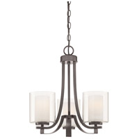 Minka-Lavery Parsons Studio 3 Light 18 inch Smoked Iron Chandelier Ceiling Light 4103-172 - Open Box