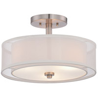 Minka-Lavery Parsons Studio 3 Light 15 inch Brushed Nickel Semi Flush Mount Ceiling Light 4107-84 - Open Box