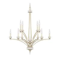 Capital Lighting Olivia 10 Light 35 inch Winter Gold Chandelier Ceiling Light 415001WG - Open Box