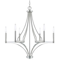 Capital Lighting Wright 6 Light 29 inch Polished Nickel Chandelier Ceiling Light 420461PN - Open Box