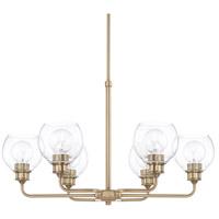 Capital Lighting R-421161AD-426 Mid Century 6 Light 30 inch Aged Brass Chandelier Ceiling Light 421161AD-426 - Open Box