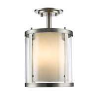 Z-Lite R-426SF-BN Willow 3 Light 9 inch Brushed Nickel Semi Flush Mount Ceiling Light 426SF-BN - Open Box