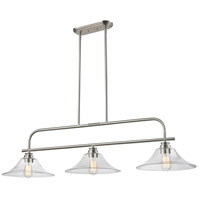 Z-Lite Annora 3 Light 52 inch Brushed Nickel Island Light Ceiling Light 428-3B-BN - Open Box