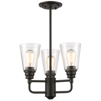 Z-Lite R-428SF-OB Annora 3 Light 15 inch Olde Bronze Semi Flush Mount Ceiling Light 428SF-OB - Open Box