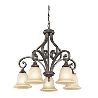 Kichler R-43158OZ Monroe 5 Light 27 inch Olde Bronze Chandelier Ceiling Light 43158OZ - Open Box