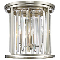 Z-Lite Monarch 3 Light 14 inch Brushed Nickel Flush Mount Ceiling Light 439F14-BN - Open Box