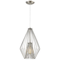 Z-Lite R-442MP12-BN Quintus 1 Light 12 inch Brushed Nickel Mini Pendant Ceiling Light in 12.00 442MP12-BN - Open Box