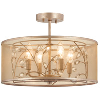 Minka-Lavery Saras Jewel 4 Light 17 inch Nanti Champaign Silver Semi Flush Mount Ceiling Light 4434-252 - Open Box