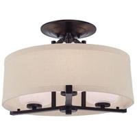 Minka-Lavery R-4499-298 Ansmith 3 Light 18 inch Kinston Bronze Semi-Flush Mount Ceiling Light 4499-298 - Open Box