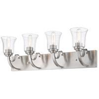 Z-Lite R-461-4V-BN Halliwell 4 Light 30 inch Brushed Nickel Vanity Wall Light 461-4V-BN - Open Box