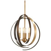 Minka-Lavery R-4624-099 Criterium 4 Light 16 inch Aged Brass with Textured Iron Pendant Ceiling Light 4624-099 - Open Box