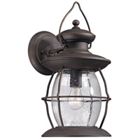 ELK Village Lantern 1 Light 17 inch Weathered Charcoal Outdoor Wall Sconce 47042/1 - Open Box