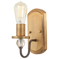 Minka-Lavery R-4721-113 Safra 1 Light 4 inch Harvard Court Bronze with Natural Bath Bar Wall Light 4721-113 - Open Box