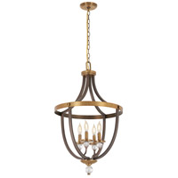 Minka-Lavery R-4734-113 Safra 4 Light 19 inch Harvard Court Bronze/Natural Pendant Ceiling Light 4734-113 - Open Box