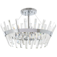 Minka-Lavery Echo Radiance 6 Light 20 inch Chrome Semi Flush Ceiling Light 4811-77 - Open Box