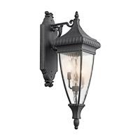 Kichler R-49132BKG Venetian Rain 3 Light 31 inch Black W/Gold Outdoor Wall Lantern 49132BKG - Open Box