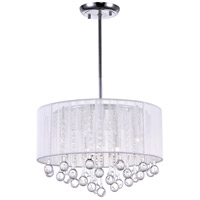 CWI Lighting Chrome Fabric Havely Chandeliers