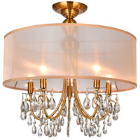 CWI Lighting R-5061C22GB Halo 5 Light 22 inch French Gold Flush Mount Ceiling Light 5061C22GB - Open Box