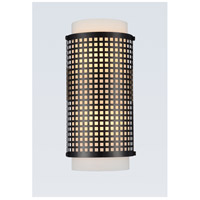 CWI Lighting R-5209W6B Checkered 2 Light 4 inch Black Wall Sconce Wall Light 5209W6B - Open Box
