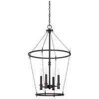Capital Lighting Lancaster 4 Light 18 inch Black Iron Foyer Ceiling Light 528742BI - Open Box