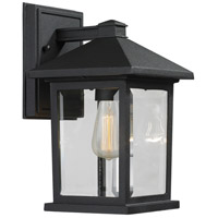 Z-Lite Portland 1 Light 10 inch Black Outdoor Wall Sconce 531S-BK - Open Box