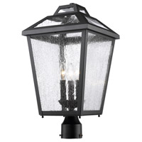 Z-Lite R-539PHBR-BK Bayland 3 Light 21 inch Black Outdoor Post Light 539PHBR-BK - Open Box