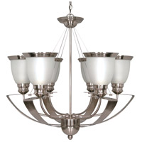 Nuvo Palladium 6 Light 25 inch Brushed Nickel Chandelier Ceiling Light 60/616 - Open Box