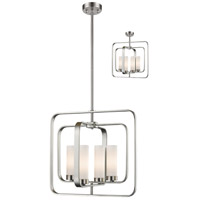 Z-Lite R-6000SFC-BN Aideen 4 Light 17 inch Brushed Nickel Pendant Ceiling Light 6000SFC-BN - Open Box