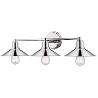 Z-Lite R-613-3V-PN Casa 3 Light 27 inch Polished Nickel Vanity Wall Light 613-3V-PN - Open Box
