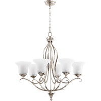 Quorum R-6272-6-60 Flora 6 Light 30 inch Aged Silver Leaf Chandelier Ceiling Light 6272-6-60 - Open Box