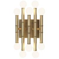 Robert Abbey R-686 Jonathan Adler Meurice 10 Light 8 inch Modern Brass Wall Sconce Wall Light 686 - Open Box