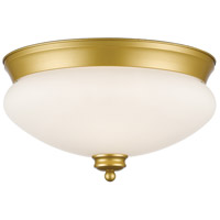 Z-Lite Amon 2 Light 13 inch Satin Gold Flush Mount Ceiling Light 721F2-SG - Open Box