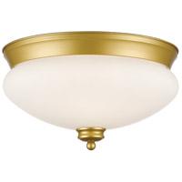 Z-Lite R-721F2-SG Amon 2 Light 13 inch Satin Gold Flush Mount Ceiling Light 721F2-SG - Open Box