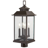 Minka-Lavery R-72596-143C Miners Loft 4 Light 23 inch Oil Rubbed Bronze with Gold Outdoor Post Mount 72596-143C - Open Box